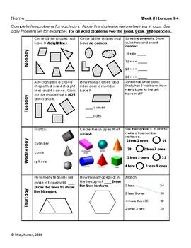 Eureka Math/Engage NY Grade One Module 5 Weekly Homework