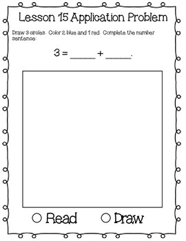 Engage NY Eureka Math Kindergarten Module 1 Application Problems Journal V2.0