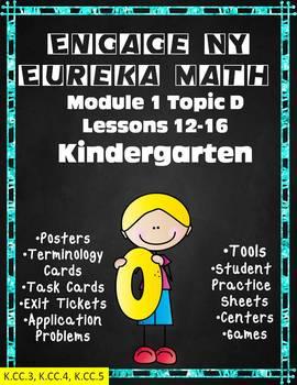 Engage NY Eureka Math Kindergarten Module 1 Topic D Lessons 12-16
