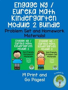 Engage NY / Eureka Math Kindergarten Module 2 Supplemental Materials Bundle