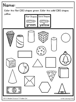 Engage NY Eureka Math Kindergarten Module 2 Supplemental Problem Set Materials