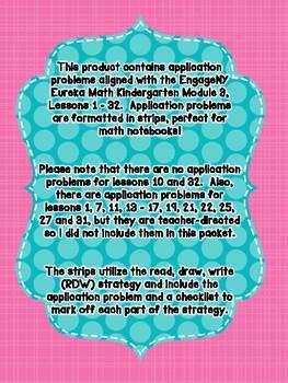 Engage NY Eureka Math Kindergarten Module 3 Application Problem Strips