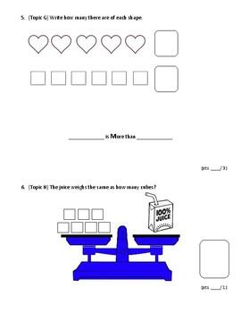Kindergarten Eureka Math Module 3 End of Unit Assessment