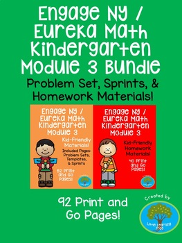 Engage NY / Eureka Math Kindergarten Module 3 Supplemental Materials Bundle