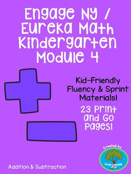 Engage NY/Eureka Math Kindergarten Module 4 Supplemental Fluency Materials
