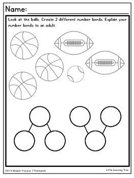 Engage NY / Eureka Math Kindergarten Module 4 Supplemental Homework Materials