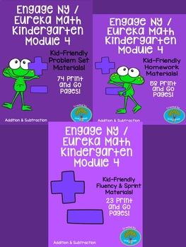 Engage NY / Eureka Math Kindergarten Module 4 Supplemental Materials Bundle