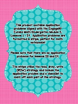 Engage NY Eureka Math Kindergarten Module 5 Application Problem Strips