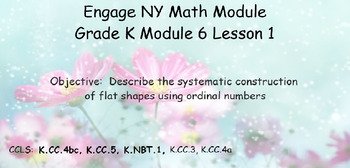 Engage NY, Eureka Math, Kindergarten Module 6