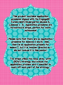 Engage NY Eureka Math Kindergarten Module 6 Application Problem Strips