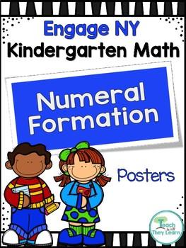 Engage NY/Eureka Math Kindergarten Numeral Formation Poster