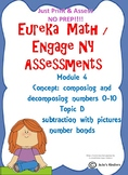 Engage NY/ Eureka Math Kindergarten Subtraction assessment NOPREP