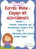 Engage NY/ Eureka Math Kindergarten Subtraction assessment NOPREP