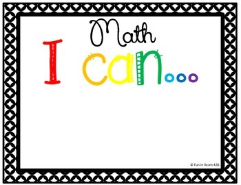 "Engage NY / Eureka Math Mod 3 ""I can"" statements {1st Grade}"