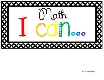 "Engage NY / Eureka Math Mod 5 ""I can"" statements {1st Grade}"