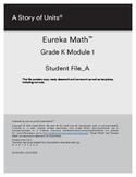 Engage NY/ Eureka Math Module 1-6 Student Workbook Kindergarten