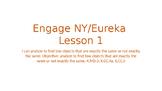 Engage NY/Eureka Math Module 1 Lesson 1