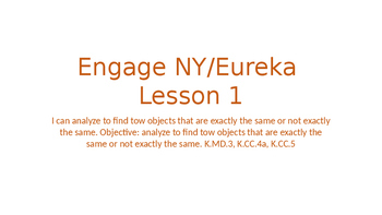 Engage NY/Eureka Math Module 1 Lesson 1
