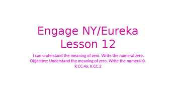 Engage NY/Eureka Math Module 1 Lesson 12