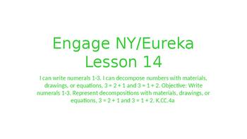 Engage NY/Eureka Math Module 1 Lesson 14