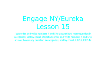 Engage NY/Eureka Math Module 1 Lesson 15