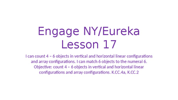 Engage NY/Eureka Math Module 1 Lesson 17
