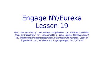 Engage NY/Eureka Math Module 1 Lesson 19