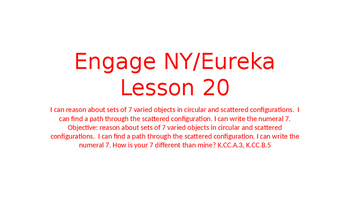 Engage NY/Eureka Math Module 1 Lesson 20