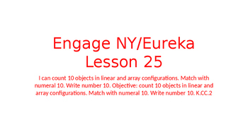 Engage NY/Eureka Math Module 1 Lesson 25