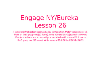Engage NY/Eureka Math Module 1 Lesson 26