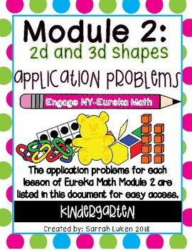 Engage NY Eureka Math Module 2 Application Problems