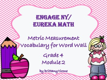Engage NY/Eureka Math Module 2 Grade 4 Common Core Vocabulary