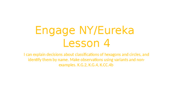 Engage NY/Eureka Math Module 2 Lesson 4