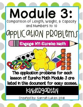 Engage NY Eureka Math Module 3 Application Problems