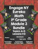 Engage NY {Eureka} Math Module 3 Lessons 1-13 1st Grade Bundled!