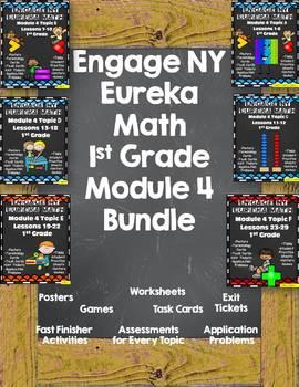Engage NY {Eureka} Math Module 4 GROWING Bundle 1st Grade