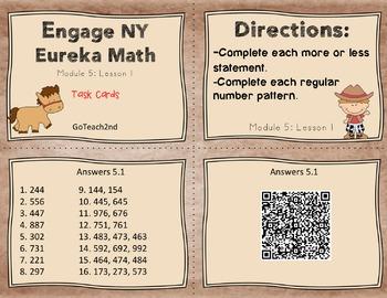 Engage NY Eureka Math Module 5:Lesson 1 (2.NBT.8 ) Task Cards/Math Center/ GAMES