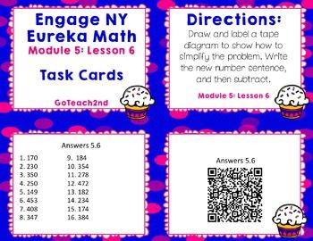 Engage NY Eureka Math Module 5 : Lesson 6 Math Center - Task Cards- Scoot Game