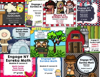Engage NY Eureka Math Module 5 :Lesson 11-20 BUNDLED Math Centers- Task Cards