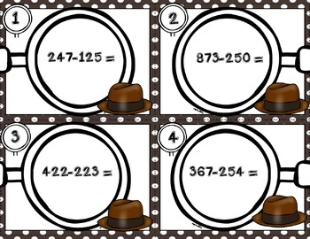 Engage NY Eureka Math Module 5 : Lesson 13  Math Center - Task Cards- Scoot Game