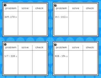 Engage NY Eureka Math Module 5 : Lesson 14  Math Center - Task Cards- Scoot Game