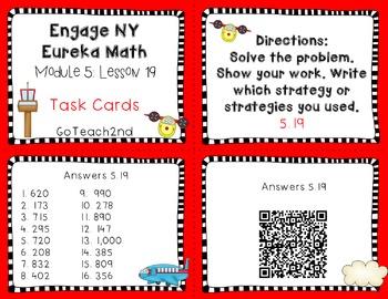 Engage NY Eureka Math Module 5 : Lesson 19 Math Center - Task Cards