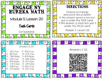 Engage NY Eureka Math Module 5 : Lesson 20  Math Center - Task Cards