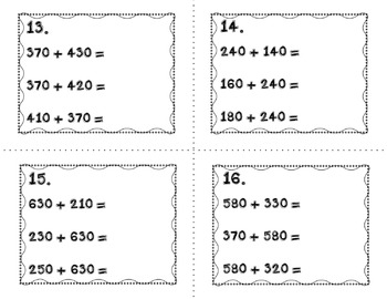 Engage NY Eureka Math Module 5 : Lesson 3-Math Center-Task Cards-Scoot Game