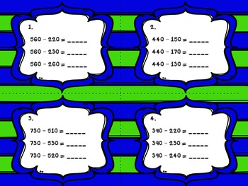 Engage NY Eureka Math Module 5 : Lesson 4 Task Cards - Math Center - Scoot Game