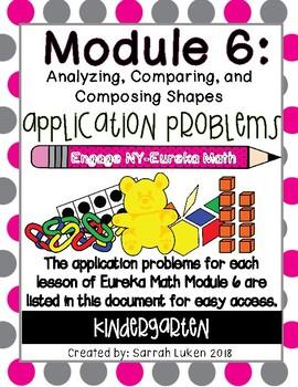 Engage NY Eureka Math Module 6 Application Problems