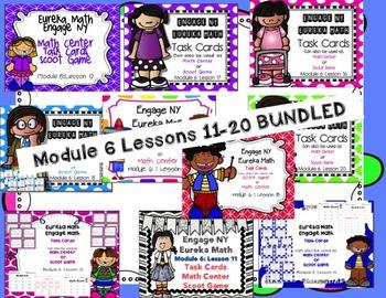 Engage NY Eureka Math Module 6 :Lesson 11-20 BUNDLED Math Centers- Task Cards