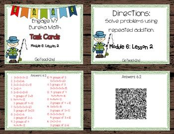 Engage NY Eureka Math Module 6 : Lesson 2 Math Center - Task Cards