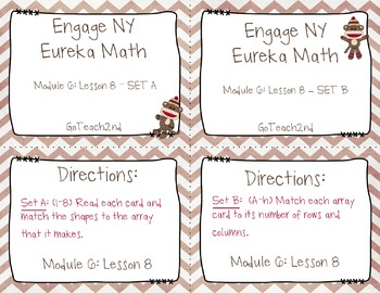 Engage NY Eureka Math Module 6 : Lesson 8  Math Center - Task Cards