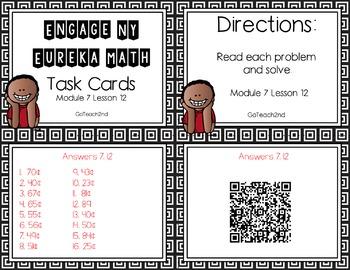 Engage NY - Eureka Math  Module 7: Lesson 12 Task Cards